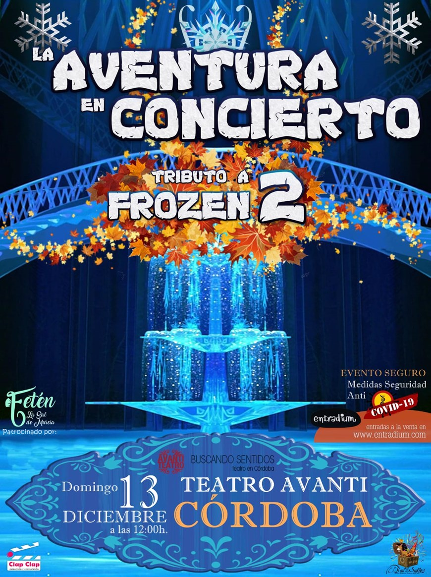 Tributo a Frozen 2 - Domingo 13 Diciembre (12:00 horas) Público Familiar